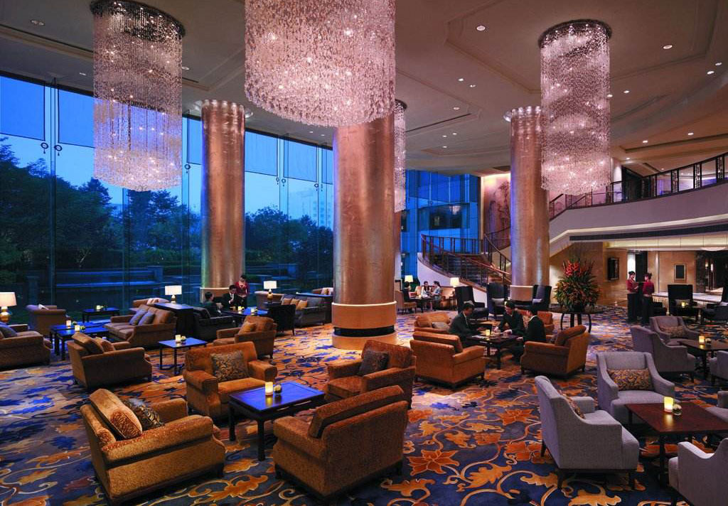 香格里拉酒店运用皇翰酒店墙布实例