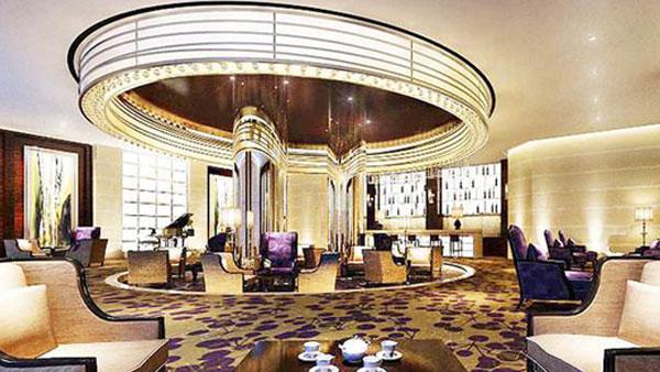 皇翰墙布顺利和南山领海国际假日酒店达成酒店墙布施工项目