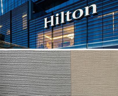 希尔顿酒店pvc墙布使用